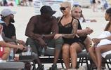 侃耶前妻Amber Rose與新男友在邁阿密一起度過母親節