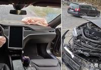 """特斯拉車主在經歷了高速撞車事故後說:""""特斯拉救了我的命"""""""