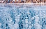 冰凍的貝加爾湖 美麗的景色