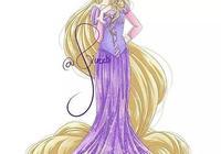 當迪士尼眾公主換另一種畫風,白雪可愛,貝兒很美,你最喜歡誰?