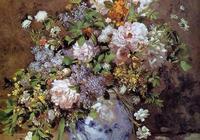 雷諾阿|瓶中花卉
