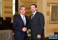 黎巴嫩總理哈里里會見王毅