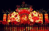 大紅燈籠高高掛,夜拍公園燈盞一角
