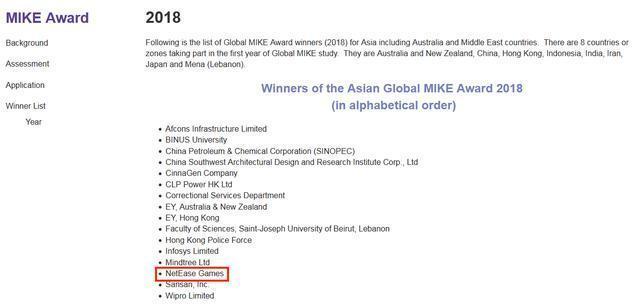 網易遊戲榮膺 2018 全球MIKE大獎——網易遊戲KM實踐揭祕