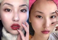 網紅的妝容,現實中粗糙,去掉美顏濾鏡不如素人,化妝記住這三點