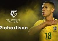 官方:沃特福德簽下巴西年輕前鋒理查爾利遜