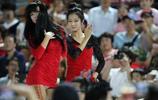 棒球女神熱舞助陣籃球賽