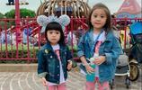 賈靜雯帶咘咘、波妞遊香港迪士尼