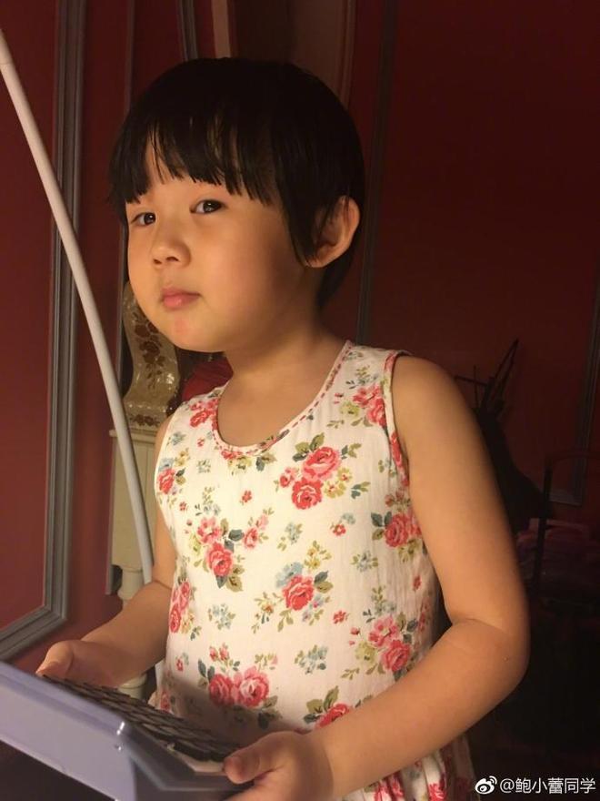 陸毅小女兒表情連拍,肉嘟嘟超可愛,完美複製陸毅的基因!