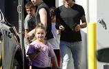 貝克漢姆全家在洛杉磯一起外出吃飯,網友:小七又胖了