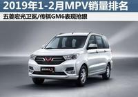 1-2月MPV銷量排行榜出爐!傳祺GM6大賣7252輛,直追宋MAX