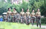四川西南航空職業學院軍訓,當年的2016級妹子們,全部高顏值啊
