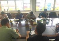 平湖市委常委鍾偉華組織召開金平湖服裝城整治方案協調會