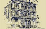 老照片:著名建築大師樑思成罕見手繪草圖,超強的立體感設計