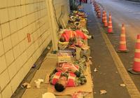 高速交通提醒——龍慶高速半山丘隧道路段正在全力搶通中