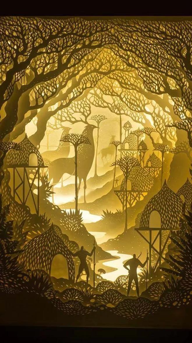 美美的剪紙的光影藝術,美國藝術家夫婦Hari\/Deepti製作
