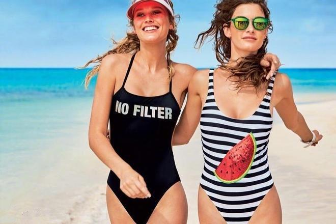 眾多超模海邊請你吃西瓜有想吃的嗎 西瓜大海美人人生贏家的生活