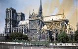 一組珍貴老照片帶你看看百年前的巴黎聖母院,雙塔明顯,塔尖很高