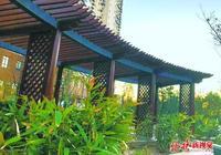 北京南二環西革新裡休閒公園綠化覆蓋率超80% 緊鄰京津高鐵線