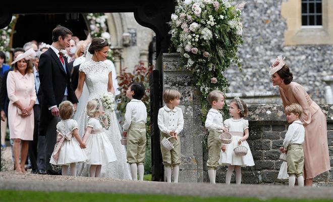 凱特王妃妹妹大婚嫁給41歲英國億萬富翁 喬治小王子當花童