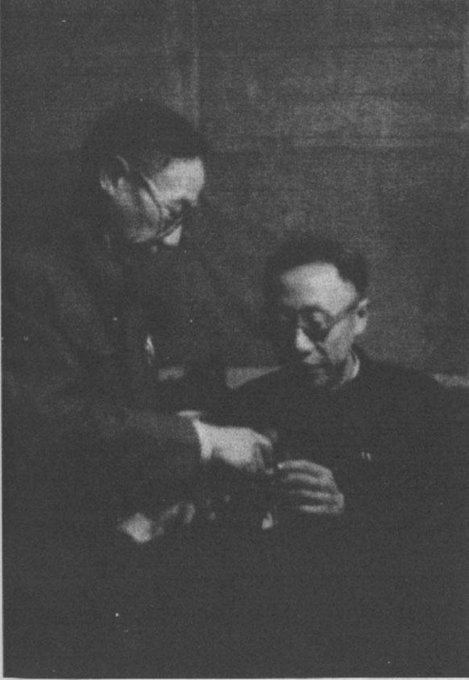 溥儀獲特赦後照片:去機場接李宗仁回國,和杜聿明夫婦參觀六和塔