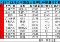 12月份自主品牌SUV銷量盤點 MG ZS成為黑馬 長安75跌落