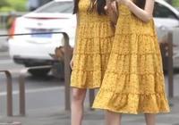 雙胞胎街拍:一個5分裙,一個7分裙,清新洋氣,你pick哪個