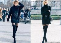 優雅的毛衣裙+顯瘦的長靴,盡顯溫婉知性,你穿了嗎?