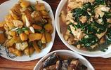 農家三個香硬菜,豆腐南瓜秋刀魚款款味不同,佳餚完美超級的好吃