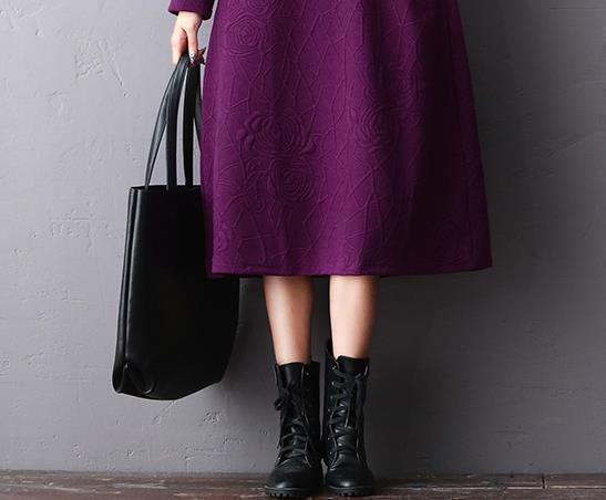 """四五十歲女人,穿嫩點!儘量常穿這""""毛呢""""秋裙,高雅顯嫩20歲"""