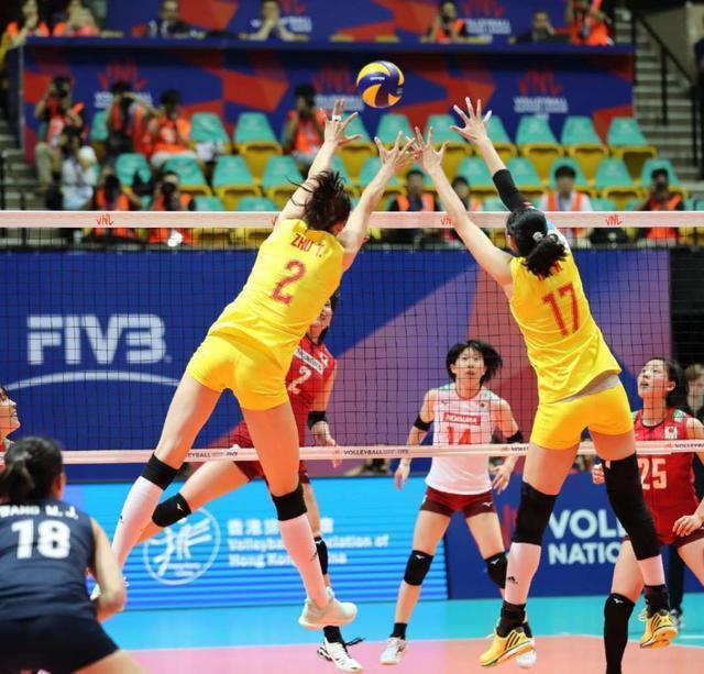 女排國家聯賽香港站,中國女排3: 0完勝日本女排