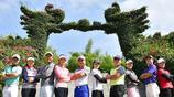 高爾夫球員到訪女排紀念館 漳州·東南溫泉花都中國錦標賽球星秀