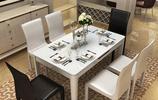 現在流行這種可伸縮摺疊的餐桌,既美觀又實用,早用早享受