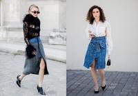 春季出街開叉裙幫你凹造型,簡單的設計穿出不一樣的時髦感