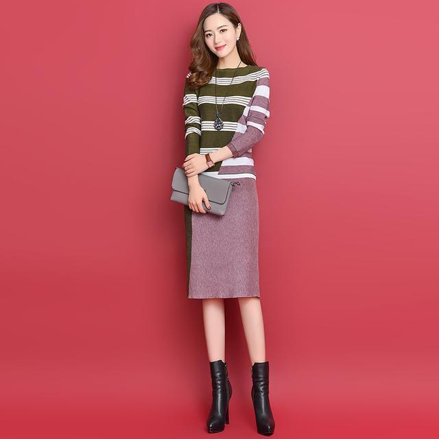 女人再吝嗇,也別傻穿風衣配褲襪,瞧瞧這樣的套裝裙,嫩美到驚人