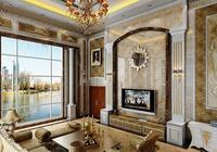 電視背景牆打算怎樣裝修?壁紙牆布好還是瓷磚石材更大氣?