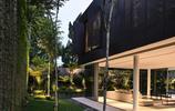 住宅設計:有水景平臺和爬藤植物裝飾景牆的超大面積住宅設計