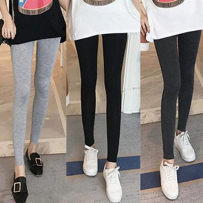小粗腿的春天來了,秋天穿上打底褲,苗條又顯瘦,比穿牛仔褲時髦