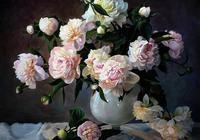 名家油畫丨一組細膩逼真的花卉繪畫作品,漂亮極了~