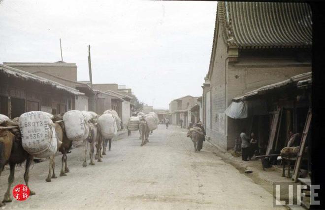 這是1941年的陝西寶雞,帶你看那時的彩色寶雞