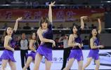 CBA季前賽深圳新世紀VS江蘇肯帝亞,啦啦寶貝熱舞炒熱比賽氣氛