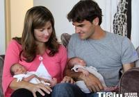 費德勒妻子米爾卡再次招黑 費德勒雙胞胎女兒照片