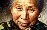 慈祥的奶奶——油畫