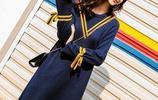 新款韓版時尚中長款收腰顯瘦連衣裙,這個季節最合適了