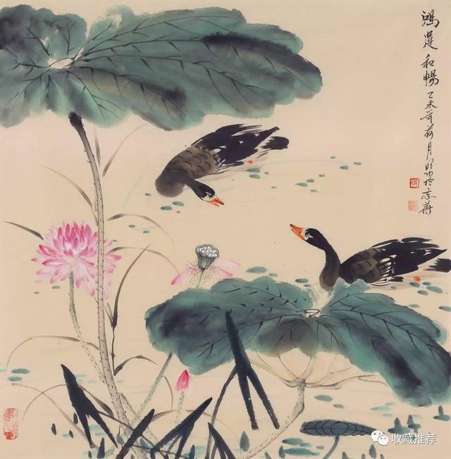 給花鳥寫照 為鴻雁傳神