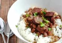 開開教你做美食——紅豆做法之二,紅豆香腸焗飯