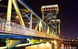 拍攝不同時間的海門大橋