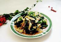 菠菜拌油豆皮