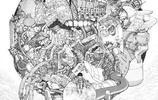來自日本漫畫家 大友克洋 的繪畫作品