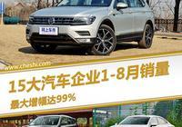 15大車企前8月銷量排名:合資3強無人撼動,這國產車賣瘋了!